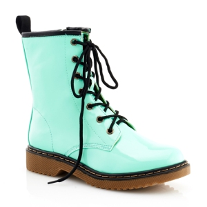 848761023438_Lady_Godiva__Toby_Combat_Boots_Mint_Green_Patent